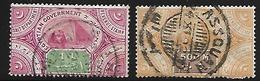 EGYPTE    -   2 Timbres Fiscaux Oblitérés.   Salt Departement, Revenue Stamp - Égypte