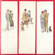 CANE - CHIEN - DOG - HUND - COUPLE - ILLUSTRATORE BIANCHI - 3 CARTOLINE MIGNON - Cani