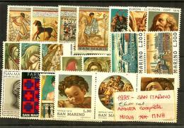 1975 SAN MARINO Annata Completa Nuova ** MNH - Nuovi