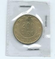 MN104  ITALIA 1991  LIRE 200 - 1946-… : Repubblica