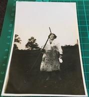 Old Real B&W Photo Postcard ~ Women With Rake ~ Jerome Ltd - Postcards