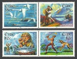 IRELAND 2012 MYTHS & LEGENDS BIRDS SWANS FISH DOGS SET MNH - Unused Stamps