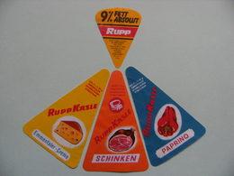 Etiquettes Fromage Fondu - RUPP - 4 Portions Rupp Käse Lochau - Autriche   A Voir ! - Quesos