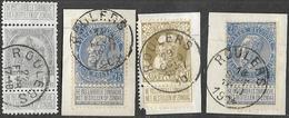 9W-951: ROULERS: 2 Zegels N°60+ Grove Baard N°75 En Wapenschild N°81... - 1893-1900 Fine Barbe
