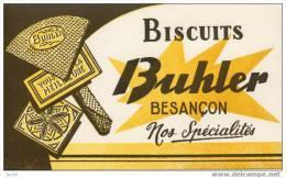 Buvard   Alimentaire, Biscuits  BUHLER  à  BESANCON  ( 25 )  Nos  Spécialités - Alimentaire