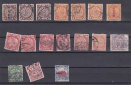 Lot Timbres Anciens Chinoises – 12 Scan Recto -verso - China