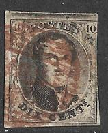 9W-950: N°6: Met Bruin-rode Afstempeling, Rechts Wat Ingesneden... Zeldzaam Met Gekleurde Stempel; Verder Uit Te Zoeken - 1849-1865 Médaillons (Autres)