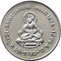India. Coin. 1 Rupee. 1999. St. Dnyaesvar - India