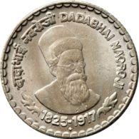 India. Coin. 5 Rupees. 2003. Dadabhai Naoroji - India