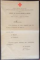 Lettre à En-tête CROIX-ROUGE HÔPITAL AUXILIAIRE N°219 SCEAUX BOURG-LA-REINE Association Des Dames Françaises - Marcophilie (Lettres)
