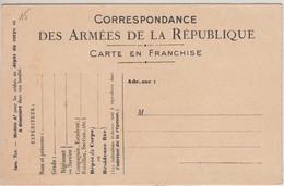 France Carte En Franchise Militaire 14/18 Officielle, émise En 1915 Pour Les Troupes Au Dépôt Du Corps, Non Circulée - Marcophilie (Lettres)