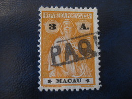 MACAU Ceres 1924 Yvert 252 ( PAQUEBOT Cancel Cat Year 2008: 2,75 Eur) Macao Portugal China Area - Macao