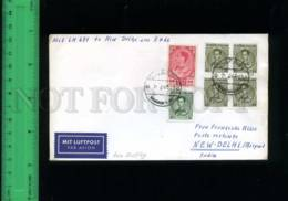 197890 THAILAND To INDIA 1966 Year Airmail Cover W/ Stamps - India
