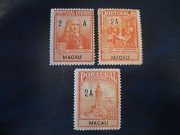 MACAU Pombal 1925 Yvert 263/5 Set Cat. Year 2008: 10 Eur) Macao Portugal China Area - Macao
