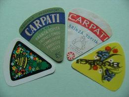 Etiquettes Fromage Fondu - CARPATI - 4 Portions Prodexport.Dorna.Bucegi - Roumanie   A Voir ! - Quesos