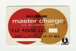 Wells Fargo Bank USA  Old Mastercard MASTERCARD Expired 1979 - Geldkarten (Ablauf Min. 10 Jahre)