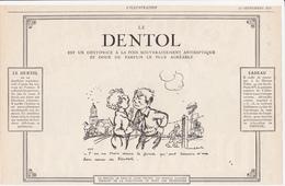 Humour / Illustrateur Poulbot / 1927 / Coupure De Presse / Publicité : Dentifrice DENTOL - Publicités