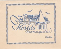 FLORIDA HOTEL - CYPRUS  FAMAGUSTA ( 12 X 9,5 Cm ) - Hotel Labels