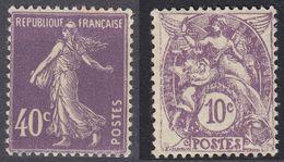 FRANCE - 1927/1931 - Lotto Di 2 Valori Nuovi MH: Yvert 233 E 236. - Francia