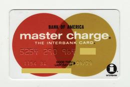 Bank Of America USA  Master Charge MASTERCARD Expired 1979 - Geldkarten (Ablauf Min. 10 Jahre)