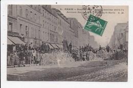 CPA 75 PARIS 10eme Souvenir De L'année Terrible 1870 71 Barricade Rue Lafayette Et Faubourg St Martin - Arrondissement: 10