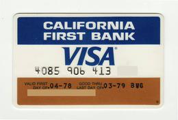 California First Bank USA Old Visa VISA Expired 1979 - Cartes De Crédit (expiration Min. 10 Ans)