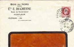 FRANCE - 1944 -Fragment De Lettre Commerciale De Honfleur - 1941-42 Pétain