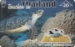 Österreich Phonecard Turtle Schildkröte, Koh Lanta Thailand, Landis & Gyr Privat Card - Oesterreich