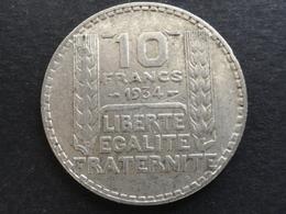 10 FRANCS TURIN ARGENT 1934 FRANCE - K. 10 Francs