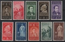 1937 Uomini Illustri Serie Cpl MNH - Nuovi