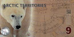 ARCTIC 9 Polar Dollar 2012 POLYMER  UNC Ours Polaire - Fictifs & Spécimens
