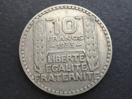 10 FRANCS TURIN ARGENT 1933 FRANCE - France