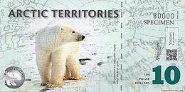 ARCTIC 10 Polar Dollar  2010  Série B POLYMER Ours  UNC POLYMER - Fictifs & Spécimens