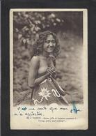 CPA Tahiti Océanie Polynésie Française écrite Nu Féminin Nude - Tahiti