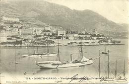 """Principaute De Monaco, Montecarlo, Vue Generale, General View, Yacht """"Princesse Alice"""" - Porto"""