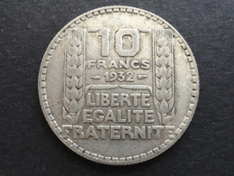 10 FRANCS TURIN ARGENT 1932 FRANCE - K. 10 Francs