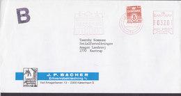 Denmark B-Economique J. P. BACHER Arbejdstøj 1990 Uprated Meter Cover Brief KASTRUP - Poststempel - Freistempel