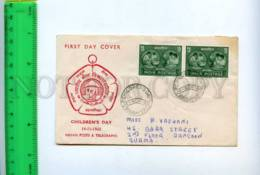 201443 INDIA BURMA 1960 Year Childrens Day RP First Day Cover - India