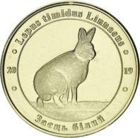 """Ukraine 1 Zlotnik 2019 """"Red Book Of Ukraine White Hare (Lepus Timidus Linnaeus)"""" UNC - Ukraine"""