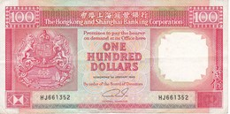 BILLETE DE HONG KONG DE 100 DOLLARS DEL AÑO 1989 (BANKNOTE) - Hong Kong