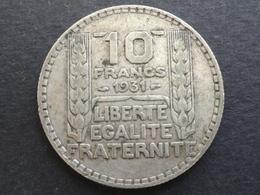 10 FRANCS TURIN ARGENT 1931 FRANCE - France