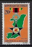 """Congo YT 203 """" Ordre Des Compagnons De La Révolution """" 1967 Neuf** - Neufs"""