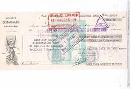 Lettre De Change Traite Toulouse     Saint Raphael    Fiscal 1932...... Fac08 - Letras De Cambio