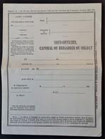 Document De PERMISSION Vierge - 1914-18