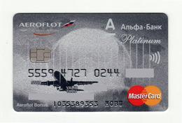 Alfa Bank RUSSIA Aeroflot Russian Airlines AVIO Mastercard Platinum Expired - Geldkarten (Ablauf Min. 10 Jahre)