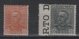 1929 Parmeggiani Tipo Del 1928 15 C. 35 C. Serie Cpl MNH Bordo Foglio +++ - Nuovi