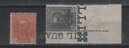 1929 Parmeggiani Tipo Del 1928 15 C. 35 C. Serie Cpl MNH Angolo Foglio +++ - Nuovi