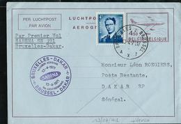 N° 13. II. NF.  1* Vol Sabena SN 391 Bxl- Dakar Du 13/04/71 + Flamme De Dakar Au Recto - Aérogrammes