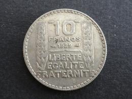 10 FRANCS TURIN ARGENT 1929 FRANCE - France