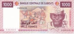 BILLETE DE DJIBOUTI DE 1000 FRANCS DEL AÑO 2005 SIN CIRCULAR-UNCIRCULATED (BANKNOTE) CAMELLO-CAMEL - Djibouti
